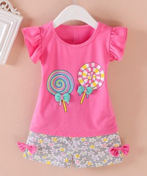 candy printed top