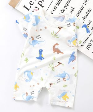 Little Dino Printed Baby Rompers Half Sleeve for 6 to 18 Months