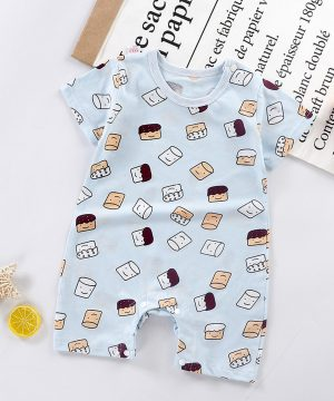 Infant Summer Baby Romper Cute Cartoon Print 6 to 18 Months